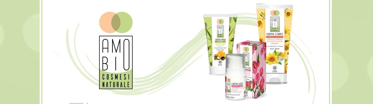 Gamma prodotti Amobio per la cosmesi naturale. Crema biologica per corpo, mani e viso interamente certificata Natrue